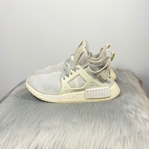 Adidas NMD XR1 Triple White Reflective Laces